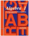 Saxon Algebra 1 Homeschool Kit w/Solutions Manual Third Edition