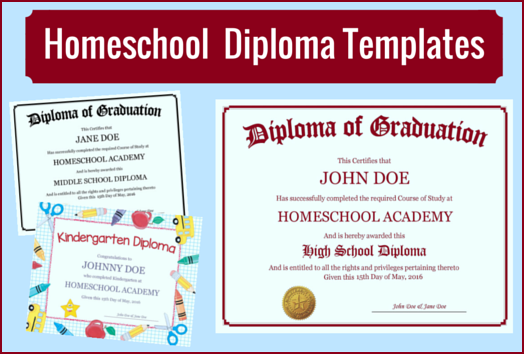 high school certificate template - homeschool diploma templates free for homeschoolers