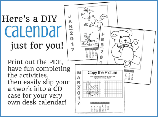 FREE Do-it-Yourself 2017 Printable Desk Calendar