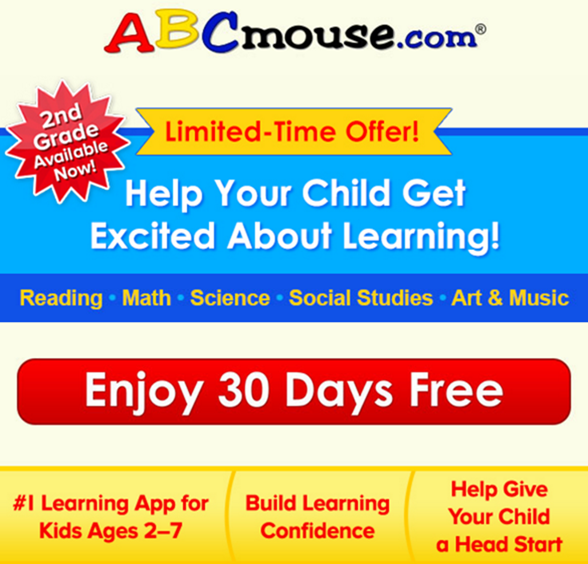 ABCmouse.com - Early Learning Academy - First Month Free Offer