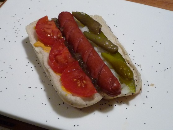 chicago dog step 7 sport peppers