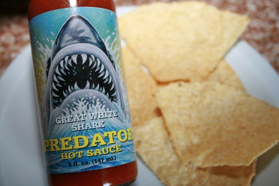 Great White Shark Predator Hot Sauce Label