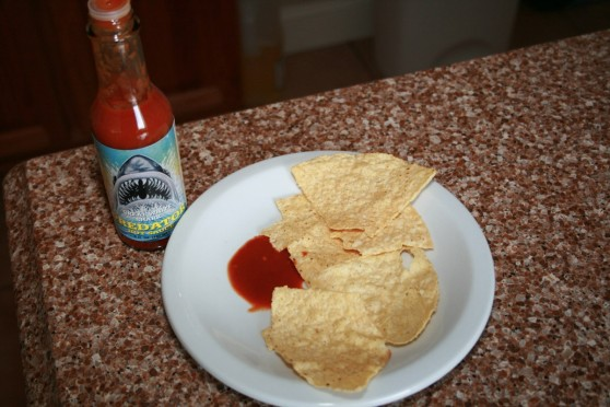 Great White Shark Predator Hot Sauce with Chips