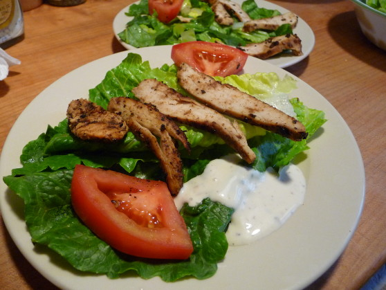 Blackened Chicken Salad with Caesar Dressing