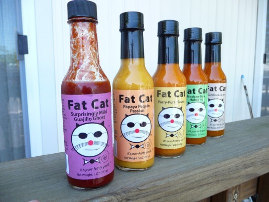 Fat Cat Hot Sauce Lineup