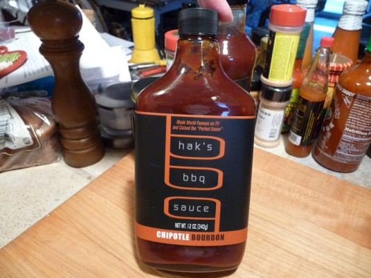 Hak's BBQ Sauce Chipotle Bourbon Flask Bottle