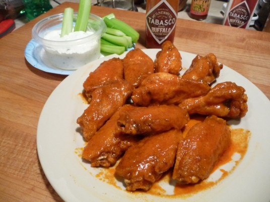 Wings in Tabasco Buffalo Style Hot Sauce