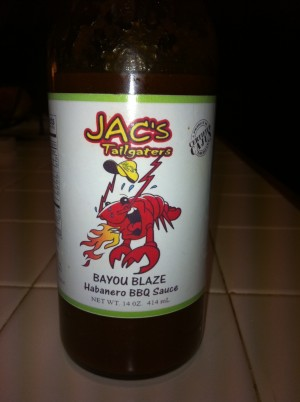 jacs bayou blaze bbq bottle