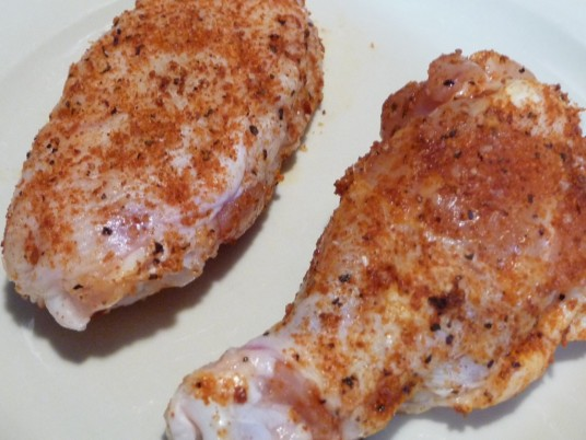 Wings Rubbed with Kramer's Wing Rub for marinade