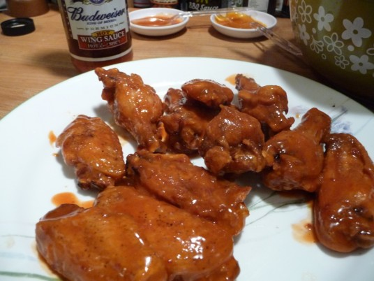 Wings with Budweiser Wing Sauce