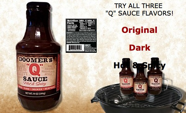 Doomers Q Sauce Maryland style