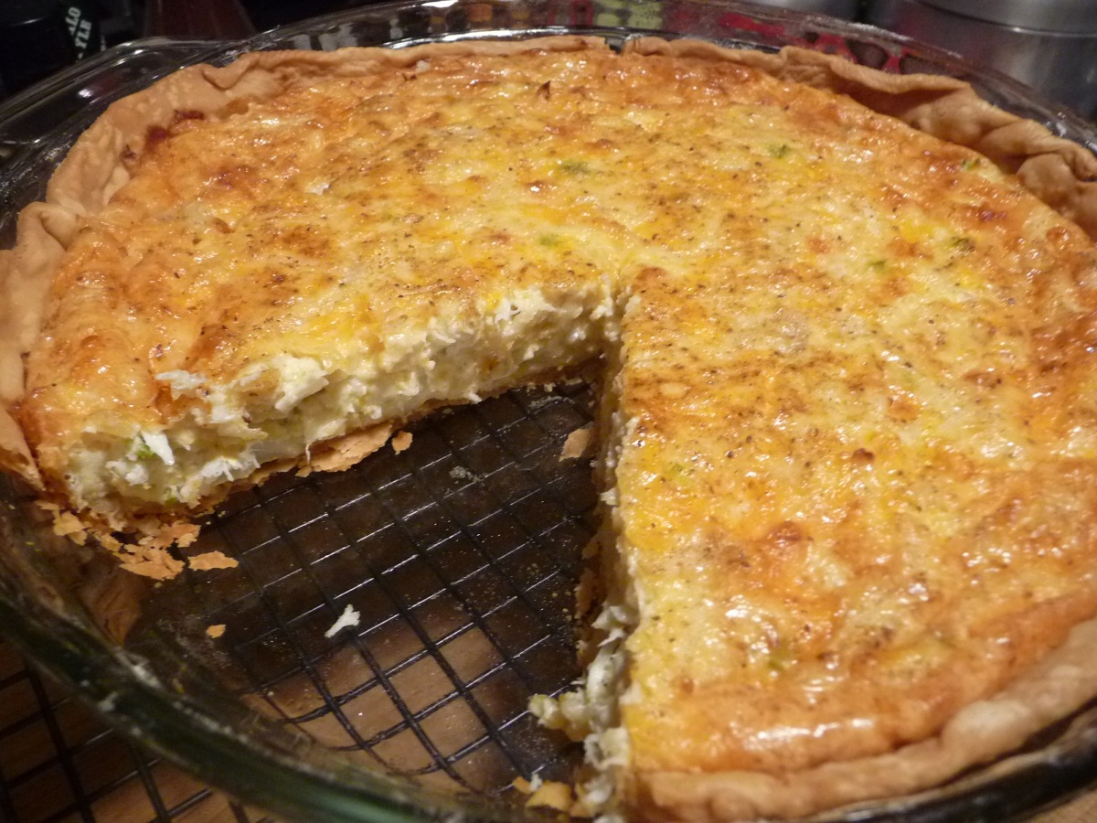 Crab Pie cut