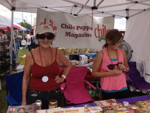 Marna at the Chile Pepper Mag booth
