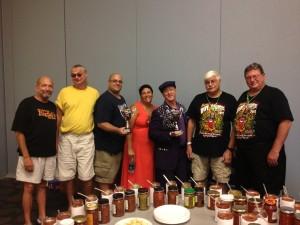 Carol Borge & the Salsa Contest judges