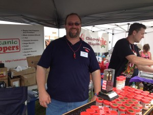 Tim Bader of Volcanic Peppers - a happy guy