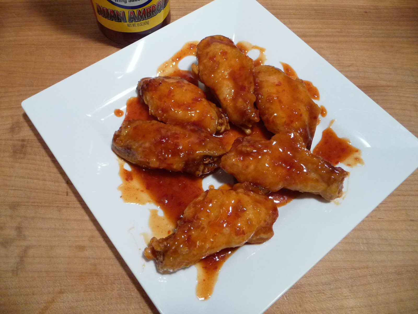 Wy's Asian Ambrosia wings finished