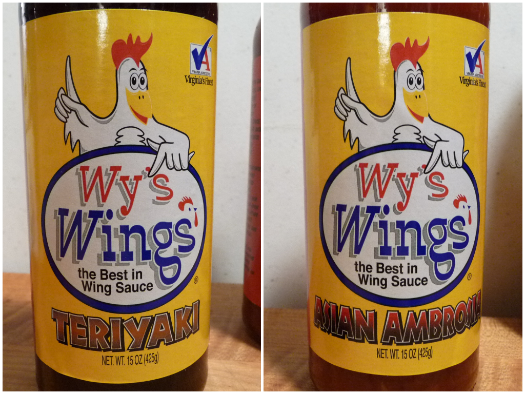 Wy's Teriyaki and Asian Ambrosia wing sauces