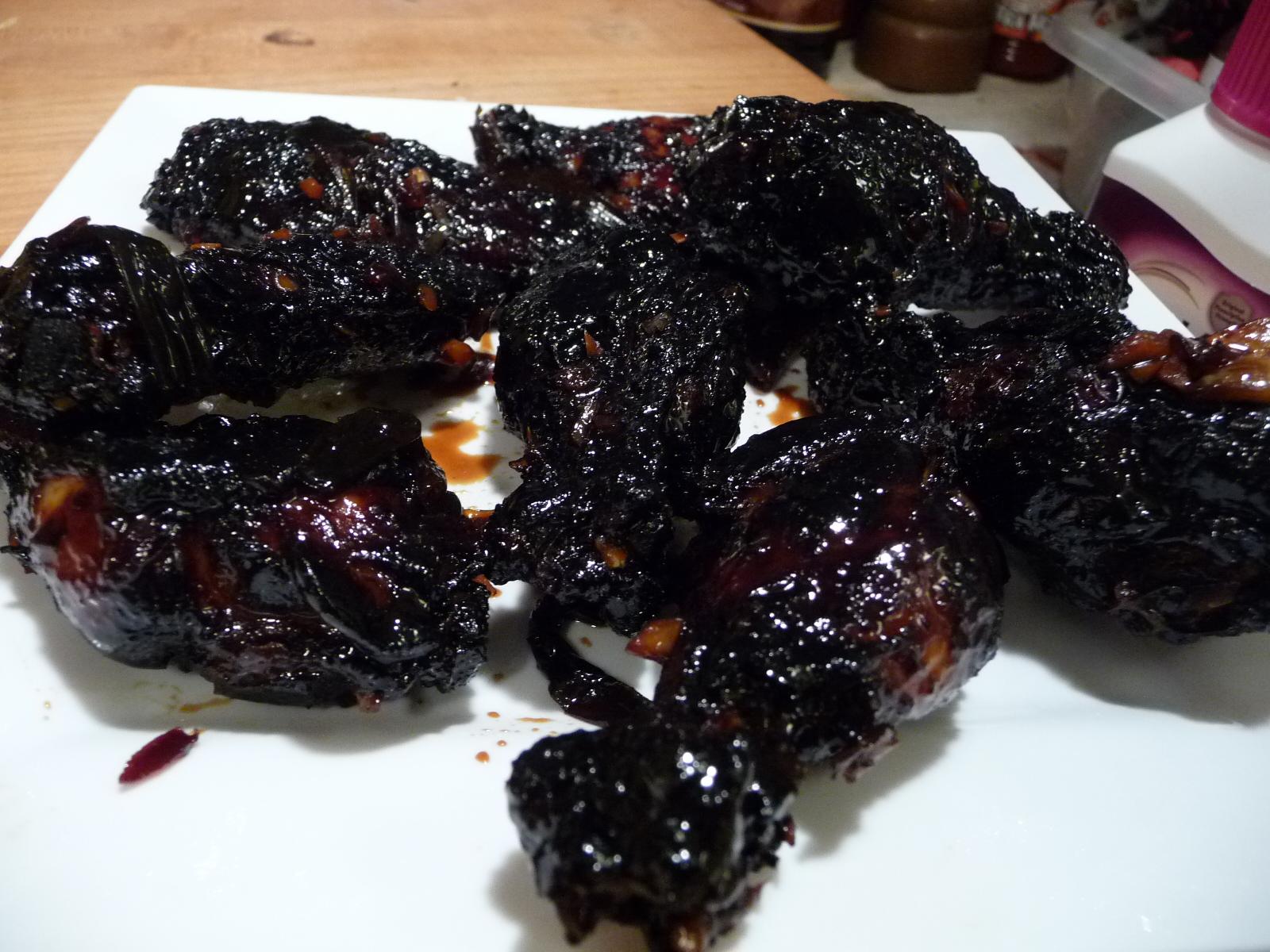 coal black wings sauced
