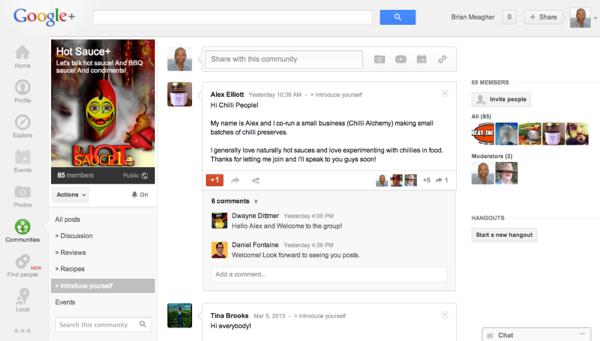 Hot Sauce+ Community on Google Plus