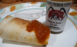 Burrito with XXX Hot Grounds for Divorce