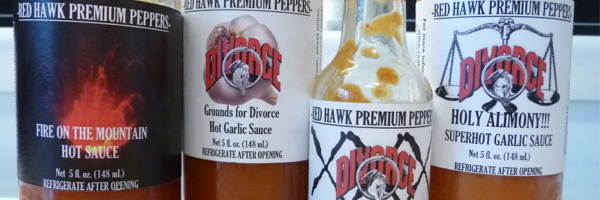 Red Hawk Garlic Hot Sauce