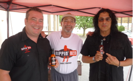 Eddie Ojeda of Twisted Sister Fame and his new Cherry Habanero hot sauce – video