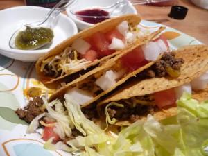 Tacos await the Green Vulcan