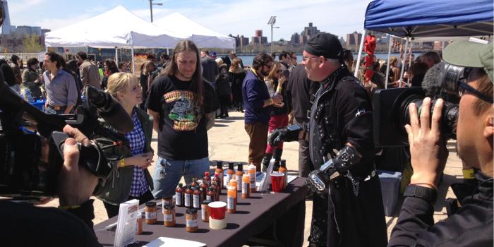 kelsey nixon at NYC hot sauce expo