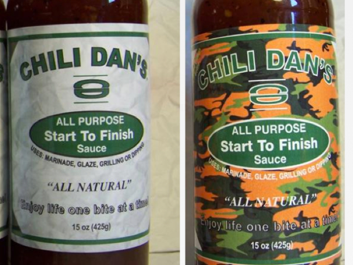 Chili Dan's Camouflage Bottle