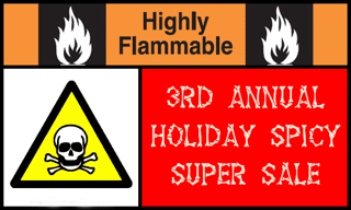 Annual Holiday Sale of Hot Sauces, BBQ and Salsas