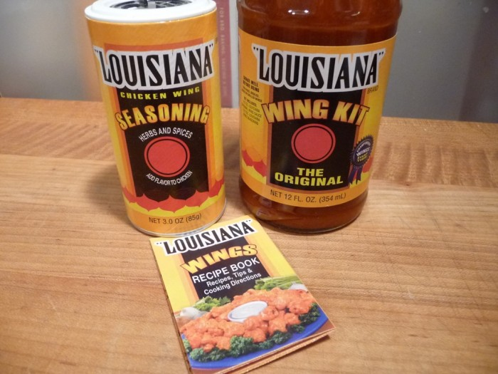 Nice little recipe booklet comes with the Louisiana Wing Kit