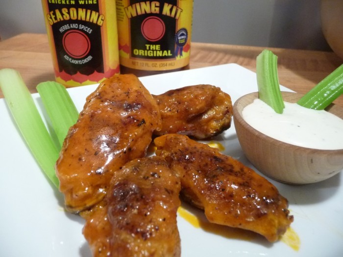 Louisiana Brand Wing Sauce wings.
