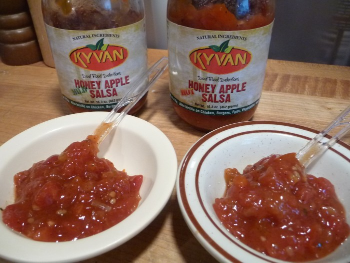 kyvan apple salsa samples