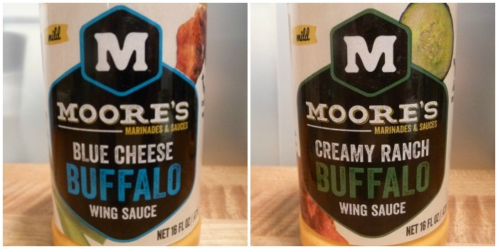 Moore's Blue Cheese Buffalo and Creamy Ranch Buffalo Wing Sauces