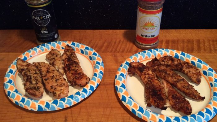 Rayz Hot Dry Rub and Spice Cave Wind on Chicken Tenders