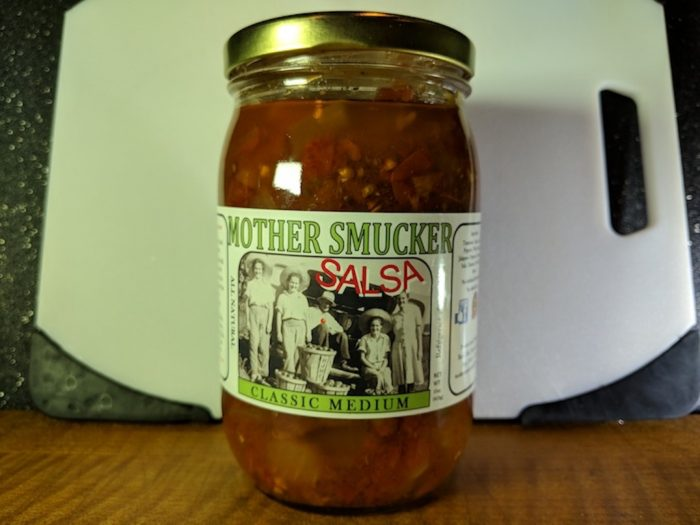 mother smucker salsa jar