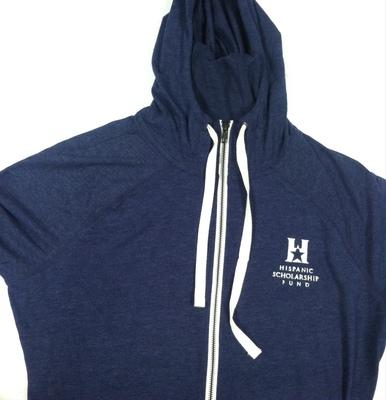 Sweatshirt -  New Era - Navy Sueded Cotton blend - Zipper Hoodie - CO - ED