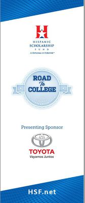 Banner - Pop up - Road to College - HSF - Toyota ( New Logo)