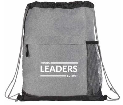 YLS - Bag -Gray Drawstring - Young Leaders Summit