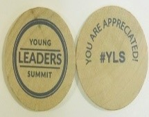 """YLC -  Wooden Tokens - """"You Are An Inspiration!"""""""