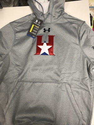 Sweatshirt - High Neck - Under Armour - Hoodie - Grey