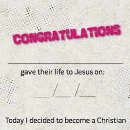 Hillsong Kids Decision Certificates