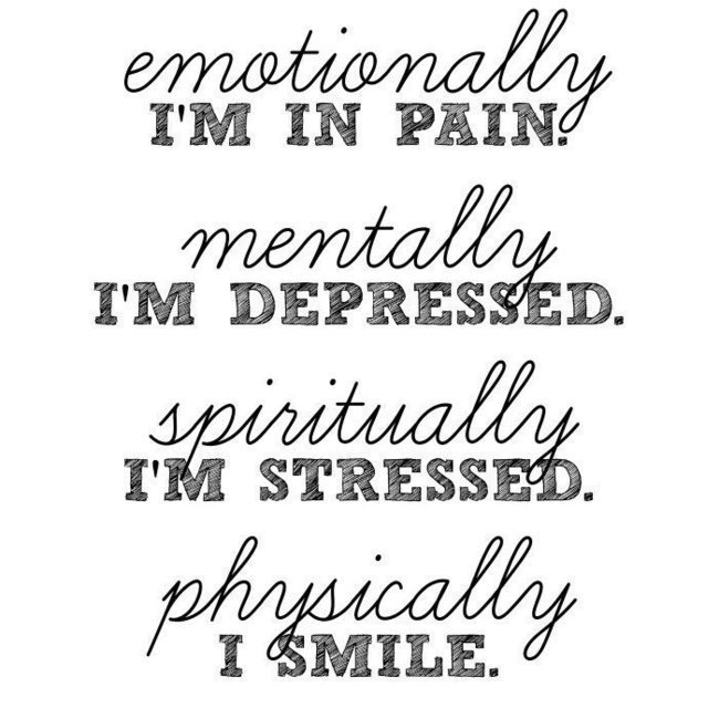 Sad Quotes About Depression: Physically, I Smile...
