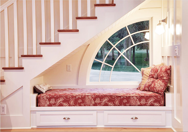 stairs book nook