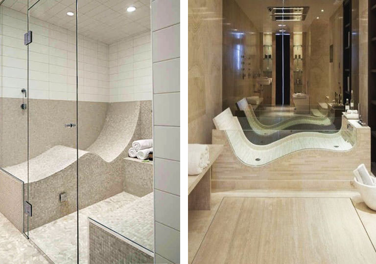 s-shaped shower seat