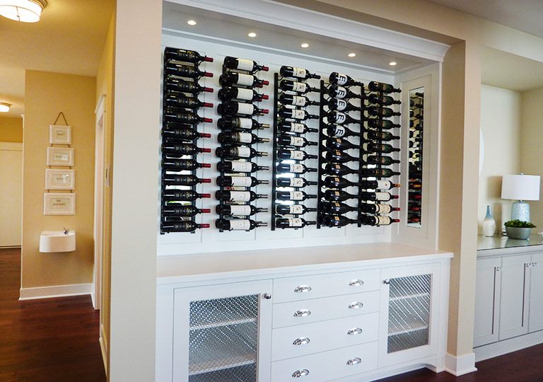 Built-in Wine Rack on Slim Walls