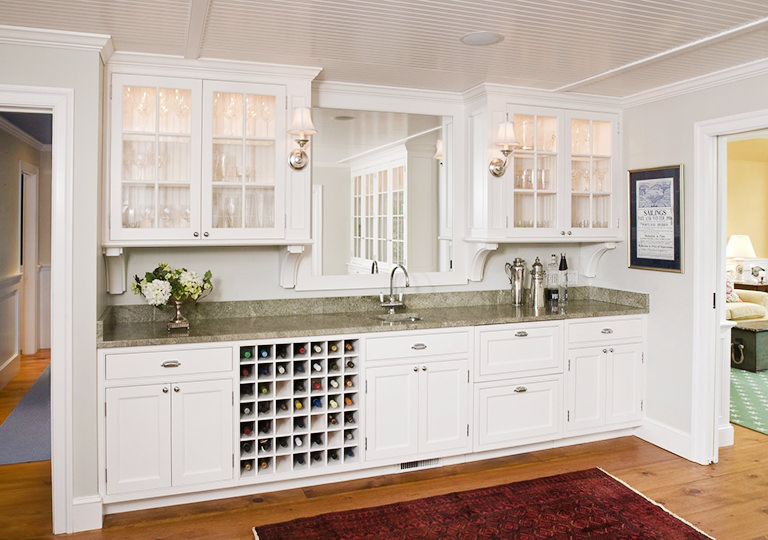Built-in Wine Rack in Kitchen Islands