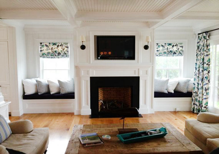 Built-in Fireplace Seats