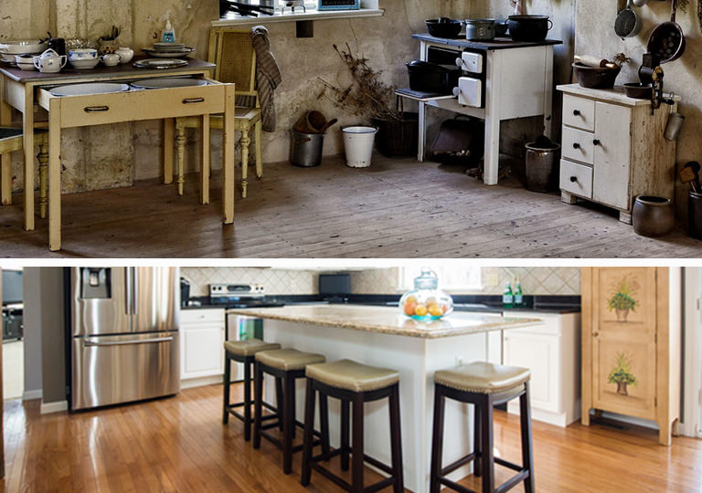 Kitchen Renovations Before and After Photo
