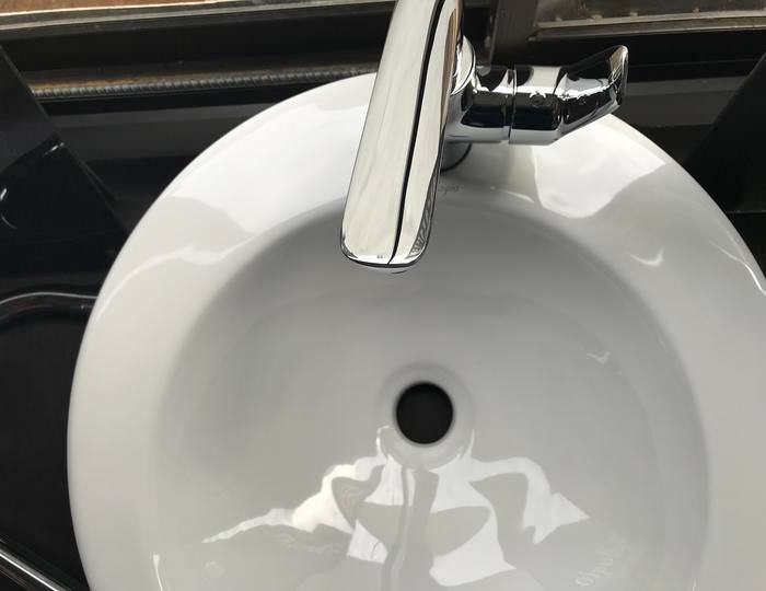 tap attached to the basin